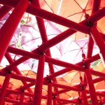 Spring Forest Installation by Draisci Studio in collaboration with Fulton Umbrellas. Photo credit Ashley Bingham
