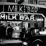Anonymous. 24 hour milk bar in Bear Street, just off Leicester Square, c. 1936 - Copyright SSPL/National Media Museum