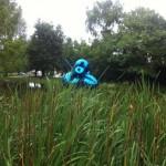 Jeff Koons Ballon Flower (Blue) photo credit Andrea Klettner