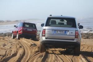 New Range Rover, Essaouira beach, Morocco