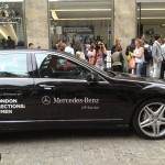 Mercedes chauffer cars London Collection Men outside BMW showroom Photo credit Nargess Banks