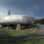 Serpentine Pavilion 2014 External CGI © 2014 Smiljan Radic Studio