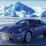 Aston Martin Vanquish on location in Iceland © 2002 Danjaq, LLC and United Artsts Corporation. All rights reserved.