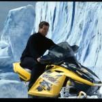 Bond (PIERCE BROSNAN) riding the Ski-doo © 2002 Danjaq, LLC and United Artsts Corporation. All rights reserved.