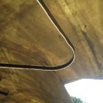 Details of the thin fibreglass structure of Serpentine Pavilion 2014 by Smiljan Radic ©Design Talks