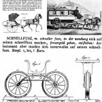 Cranked tricycles for children, Gourdoux of 1821 and Herberts of 1837. Copywrite MIT Press