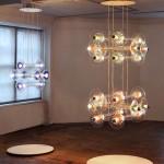 Nilufar France gallery, Bethan Laura Wood, Criss-Cross chandelier, 2014
