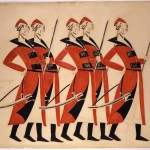 Costume design for Life for the Tsar by Vladimir Tatlin, 1913-1915 © A. A. Bakhrushin State Central Theatre Museum