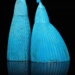 Toru Kaneko, Slim copper vases 2010 at Katie Jones UK
