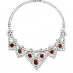 Necklace worn by Elizabeth Taylor. Cartier Paris, 1951, altered in 1953. Platinum, diamonds, rubies; Length 37.5 cm. Cartier Collection. Photo: Marian Gérard, Cartier Collection © Cartier