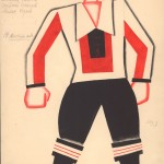 Tatiana Bruni, Komsomol Member, Costume Design for 'The Bolt', 1931, Courtesy GRAD and St Petersburg Museum of Theatre and Music