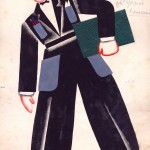 Tatiana Bruni, Kozelkov, Costume Design for 'The Bolt', 1931, Courtesy GRAD and St Petersburg Museum of Theatre and Music