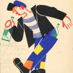Tatiana Bruni, The Drunkard, Costume Design for 'The Bolt', 1931, Courtesy GRAD and St Petersburg Museum of Theatre and Music