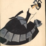 Tatiana Bruni, The Terrorist, Costume Design for 'The Bolt', 1931, gouache and watercolour on paper. Courtesy GRAD and St Petersburg Museum of Theatre and Music