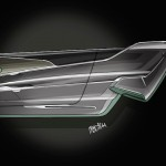 Audi Prologue, sketch of the side panel