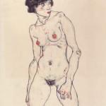 Egon Schiele (1890-1918) Standing Nude with Stockings, 1914 (c) Germanisches Nationalmuseum, Nuremburg