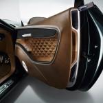 Quilted wood inside the doors of Bentley EXP 10 Speed 6concept