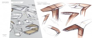 Aston Martin Quintessence Yachts AM37 Speedboat, sketching the hull