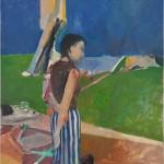 Richard Diebenkorn, Girl On a Terrace, Collection Neuberger Museum of Art 1956 _Copyright The Richard Diebenkorn Foundation