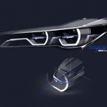 Advanced laser headlamps on 2015 BMW 7 Series