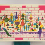 People of Print, Bastonnade, screen print, 2013 © Frenchfourch, Thames & Hudson
