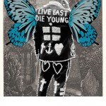 People of Print, Pearly King in Highgate Cemetery, 6-colour screen print, 2011 © Pure Evil, Thames & Hudson