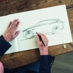 Ian Callum sketching the Jaguar F-Pace 2015