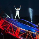Terry Grant completes the loop the loop in the 2015 Jaguar F-Pace