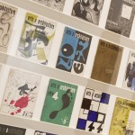 The World of Charles and Ray Eames, Installation view of Arts & Architecture magazine covers designed by Ray Eames, Barbican Art Gallery, London 21 October 2015 – 14 February 2016 © Tristan Fewings/ Getty Images