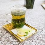 Enjoying herbal tea in a sacred garden in Tehran © Design Talks