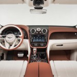 Bentley Bentayga cabin demonstrates the skills of the artisans at the Crewe factory, so there is an abundance of handcrafted wood, hand stitched quilted leather, precisely engineered chrome elements, seamlessly executed within a highly digital and connected environment