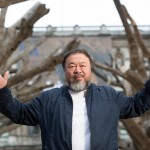 Ai Weiwei presenting his installation Tree in the courtyard at the Royal Academy of Arts, 2015. Photo courtesy of Royal Academy of Arts, London. Photography ©Dave Parry
