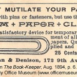 Design an Essential Introduction ©Image courtesy of the Early Office Museum. 1894