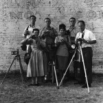 The World of Charles and Ray Eames. Eames Office and friends pose against 901 © Eames Office LLC