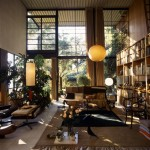 The World of Charles and Ray Eames. Eames House Living Room. Photo Antonia Mulas. © Eames Office LLC