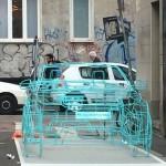 Range Rover Evoque wire sculpture