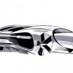 Bugatti Chiron early design sketch