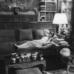Coco Chanel. This photo, published in LIFE in 1957, shows Coco Chanel, aged 74, at her apartment on the Rue Cambon in Paris reclining on her massive divan © Mark Shaw / mptvimages.com