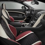 he colour split inside the Bentley Supersports accentuates the seat design to resemble bucket seats
