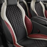 The colour split inside the Bentley Supersports accentuates the seat design to resemble bucket seats