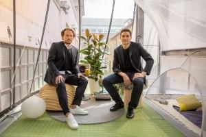 Oke Hauser, creative lead on the MINI Living and SO-IL principal Ilias Papageorgiou