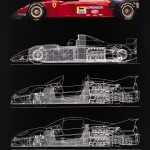 Ferrari 412 T2 drawing, 1995 © Museo Ferrari
