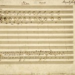 Draft of part of Cherubino's Act I aria 'Non so più cosa son' (K492, no. 6), autograph score, Wolfgang A. Mozart, 1786. British Library, Zweig MS 57 © British Library, London, UK / Bridgeman Images