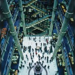 Lloyd's of London, the view down the central atrium into the underwriting room, Janet Gill © Nikki Trott