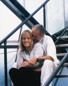 Richard and Ruth Rogers on the staircase in Royal Avenue, photographer Richard Bryant © Arcaid Images