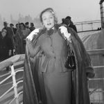 12/21/1950-New York, New York- Actress, Marlene Dietrich, unquestionably one of the most glamourous grandmothers in the world, shows herself to be little the worse for wear after her arrival at New York aboard the Queen Elizabeth. © V&A Ocean Liners: Speed & Style