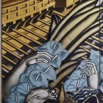 Panel from the Rape of Europa, Grand Salon, Normandie Jean Dupas France 1934 Miottel_Museum. © Peabody Essex Museum Salem Massachusetts © V&A Ocean Liners: Speed & Style