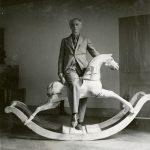 Max Ernst with rocking horse, Paris 1938Max Ernst Museum Brühl des LVR