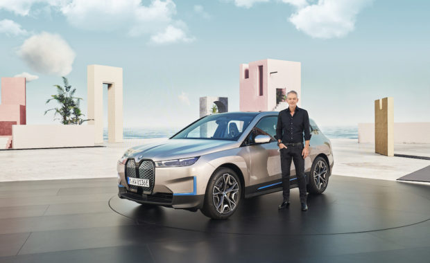 BMW Group head of design Adrian van Hooydonk and the iX