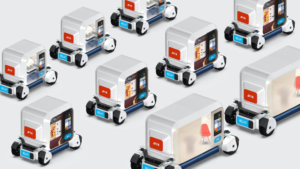 An image of the Pix Moving self-driving fleet